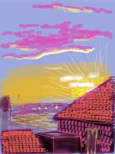 David Hockney's luscious iPad artwork