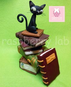 Le Chat Noir - polymer clay fan art design by Benjamin Lacombe