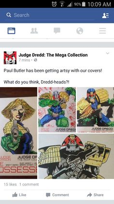 Original artwork by the judge dredd mega collection. Colors by me. Recongised by the publisher. quite a proud moment Judge Dredd, Original Artwork, Artsy, In This Moment, The Originals, Colors, Collection, Color, Colour