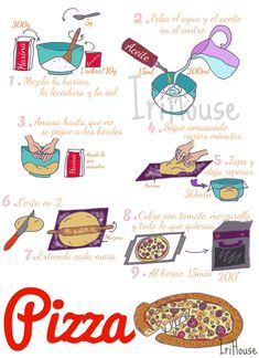 Empanadas, Cartoon Recipe, Pizza Recipes, Cooking Recipes, Peppers Pizza, Meat Lovers Pizza, Cherry Tomato Sauce, Artisan Pizza, Perfect Pizza