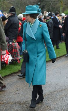 The Princess Royal arriving to attend the Christmas Day morning church service at St Mary Magdalene Church in Sandringham, Norfolk. (Photo by Joe Giddens/PA Images via Getty Images)