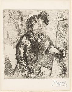 Marc Chagall (French, 1887–1985)   Self-Portrait with Easel   1930/1931