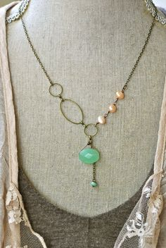 Sophie. pearlbeadeddangle earrings. by tiedupmemories on Etsy