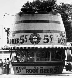 A & W Root Beer Stands - The First Frosty Mug