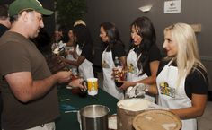Oakland Raiderettes at 13th Annual A's MUG Root Beer Float Day on June 20, 2012 (Jeff Bennett/Oakland Athletics)