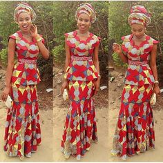 Latest Aso Ebi Styles : Skirt and Blouse Ankara Styles .Latest Aso Ebi Styles : Skirt and Blouse Ankara Styles African Dresses For Women, African Print Dresses, African Attire, African Wear, African Women, African Fashion, African Prints, Ankara Fashion, Kids Fashion