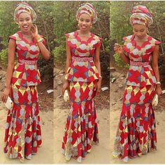 Lovely Ankara Skirt and Blouse Style http://www.dezangozone.com/2016/03/lovely-ankara-skirt-and-blouse-style_23.html