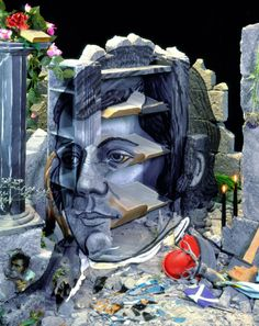 Portrait of Robert Burns (after Archibald Skirving) – Calum Colvin Robert Burns, Everyday Objects, Surreal Art, Photomontage, Contemporary Artists, Cool Art, Lion Sculpture, Artwork, Photography