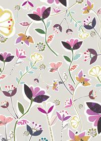 cute floral...: gift wrap ~ Caroline Gardner