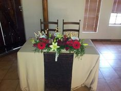 Wedding :cream, red and brown Flowers by Vergeet - My - Nie www.vergeetmynieflorist.co.za