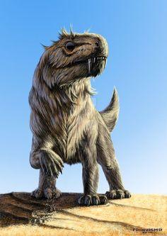 Nothogomphodon danilovi (terápsido terocéfalo del Triásico de China, 245Ma) (FinwalSMD)