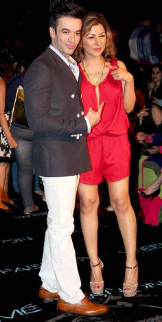 Punit Malhotra with Hard Kaur at the Lakme Fashion Week 2014 #Style #Bollywood #Fashion #Beauty #LFW2014