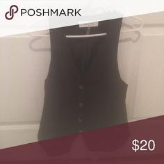 Black vest Black medium vest. Only wore once Mustard Seed Jackets & Coats Vests
