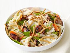 Asian Chicken Salad : An Asian-inspired mixture, with rice vinegar, soy sauce and ginger, does double duty as a marinade and a salad dressing.