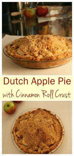 Best Dutch Apple Pie Recipe Cinnamon Roll Pie Crust via @https://www.pinterest.com/Pieandpastrygal/