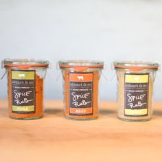Spice Rub 3 Pack | $27. This set of 3 artisanal meat rubs will elevate your meals to a new level. Available at: manykitchens.com