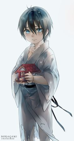 Noragami | Yato Actually can't cope with how kawaii this is!! Aww with his little shrine!