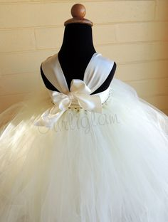 Ivory Flower Girl Dress, Tutu dress. $89.00, via Etsy.