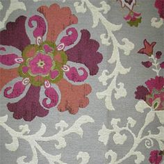 Nurata Mulberry Purple Floral Woven Upholstery Fabric by P Kaufmann - SW53315 - Fabric By The Yard At Discount Prices