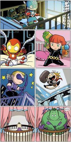Marvel at Midnight Baby Avengers
