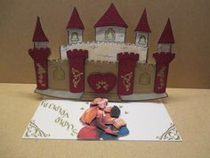 réalisation faire part mariage thème médiéval château fort en ...