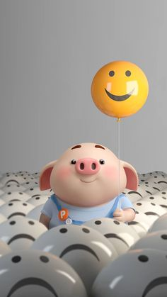 Cute Pig Wallpaper - Best of Wallpapers for Andriod and ios Pig Wallpaper, Cute Disney Wallpaper, Cute Cartoon Wallpapers, Iphone Wallpaper, Smile Wallpaper, Pig Illustration, Illustrations, Cute Piglets, 3d Art