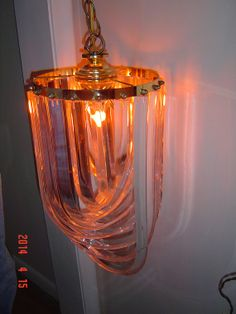 Vintage Clear Lucite Plastic Hanging Light by PennyBunny on Etsy, $195.00