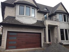 Fibergl Garage Doors Woodgrain Modern Door With Frosted Lites Manufactured And Installed In Thornhill By