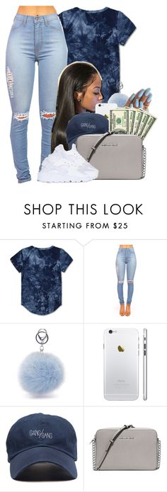 """""""GANG/GANG"""" by heavensincere ❤ liked on Polyvore featuring Haus of JR, MICHAEL Michael Kors and NIKE"""