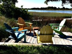 Serenity in Beaufort, North Carolina (Photo by Betsy Cartier) Most Beautiful, Beautiful Places, Outdoor Chairs, Outdoor Decor, Travel Magazines, Small Towns, Cartier, North Carolina, Serenity