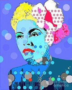 Digital Art - Billie Holiday by Ricky Sencion