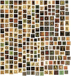 Alpha Tiles by Tim Holtz Idea-ology, 255 Tiles, 11/16 Inches Each, Chipboard, Multicolored, TH93046