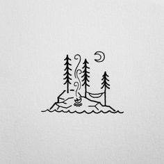 drawings cool simple easy tattoo drawing doodles doodle camping draw nature mn tattoos northern inspired google stuff explore ak0 david