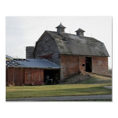 Search for customizable Old Barn posters & photo prints from Zazzle. Bank Barn, Country Barns, Country Roads, Country Living, Barn Pictures, Barns Sheds, Red Barns, Old Farm, Old Buildings