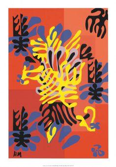 Rood Abstract Kunst Poster bij AllPosters.nl