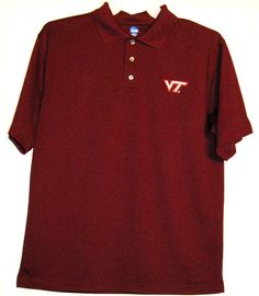 FREE U.S. Shipping! NCAA Virginia Tech Hokies Polo Shirt! Size: Adult Medium. #NCAA #VirginiaTechHokies