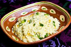 NYT Cooking: Creamy Rice Casserole - I call it Creamy Mexican Rice because of the cilantro, corn and Poland pepper in it
