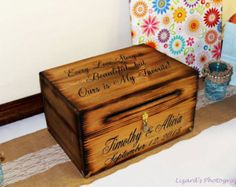 Wedding Card Box Rustic Decor Chest by dlightfuldesigns on Etsy