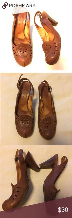 Chie Mihara Brown pumps These shoes are used and well loved.  Very well made, quality shoes which allows for more life to them. Please see all pics. No defects, just well worn.  Size 37 which fit my size 7 (US) feet. Chie Mihara Shoes Heels