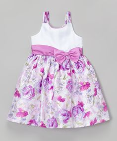 a26c50009 Another great find on #zulily! Jayne Copeland Mauve Floral Triple-Strap  Dress -