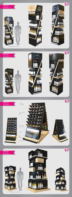Exhibidores diseñados para exhibir en el punto de venta vinos de AndeLuna