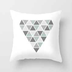 Geometric throw pillow, diamond design on society6 by Limitation Free #society6