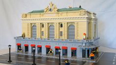 https://flic.kr/p/U75BzT | Grand Central Terminal (ish) | I made this approximate representation of New York's Grand Central Terminal specifically for a Manhattan diorama we showed at Utebobricks 2016 these past December and January.