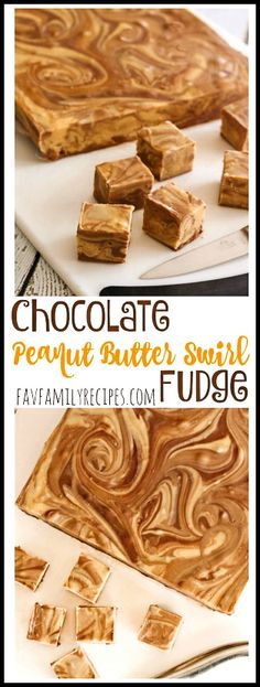 This Chocolate Peanut Butter Fudge Swirl is so easy to make and incredibly creamy and delicious! Tastes like a Reese's beanut butter cup in fudge form. via @favfamilyrecipz