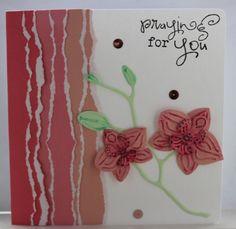 Gemaakt door Joke # kaart met Orchidee - Praying for You