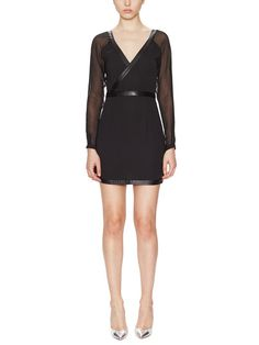 SUBOO - Eveleigh Wrap Dress with Leather Trim