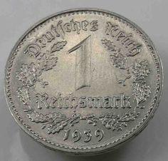 Deutsches Reich Drittes Reich 1 Reichsmark 1939 B Nickel [3457