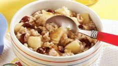 Prepare this delicious fruity oatmeal for breakfast in a snap by putting your slow cooker to work overnight!