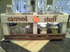 "Upcycled Pallet Wood ""Canned Stuff"" Shelf"