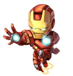 #Iron #Man #Fan #Art. (Iron Man Chibi) By: ANDREA COFRANCESCO. (THE * 5 * STÅR * ÅWARD * OF: * AW YEAH, IT'S MAJOR ÅWESOMENESS!!!™)[THANK U 4 PINNING!!!<·><]<©>ÅÅÅ+(OB4E)